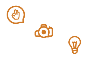Las imágenes e iconos corporativos que ves y sus funciones /  These images and corporate icons you see … these are their functions