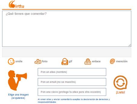 Actualización del widget de comentarios para las webs